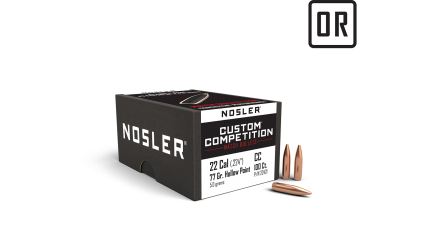 22 Caliber 77gr HPBT Custom Competition (100ct)