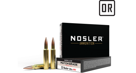 33 Nosler 300gr Custom Competition Match Grade Ammunition